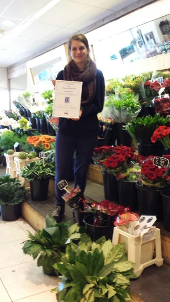 foto certificaat toegankelijkheid bloemenzaak
