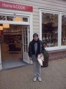 foto acteur voor een van de bezochte winkels
